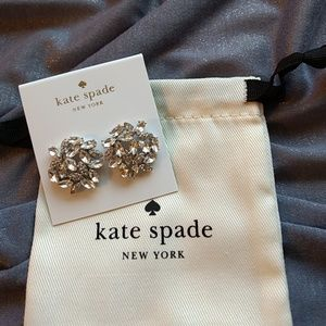 NWOT Kate Spade crystal style statement studs